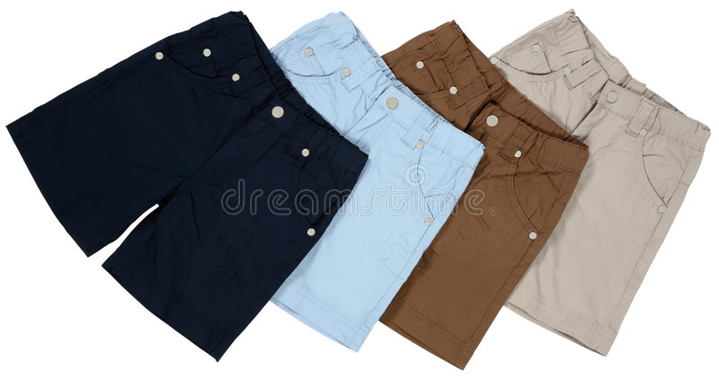 Pants. Short pants isolated with clipping path royalty free stock photos