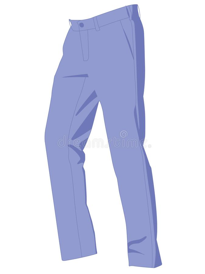 Free Pants Blue Realistic Vector Illustration Isolated Royalty Free Stock Image - 172617016