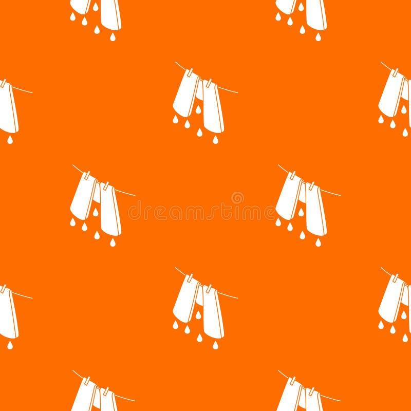 Pants drying pattern vector orange. For any web design best stock illustration