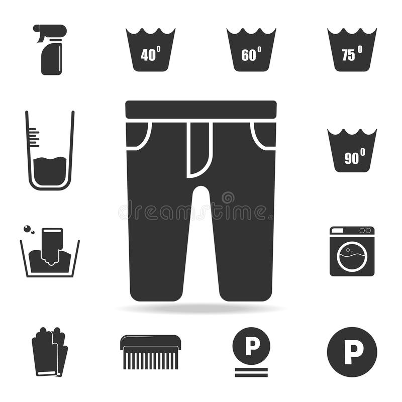 Pants icon. Detailed set of laundry icons. Premium quality graphic design. One of the collection icons for websites, web design, m. Obile app on white background stock illustration