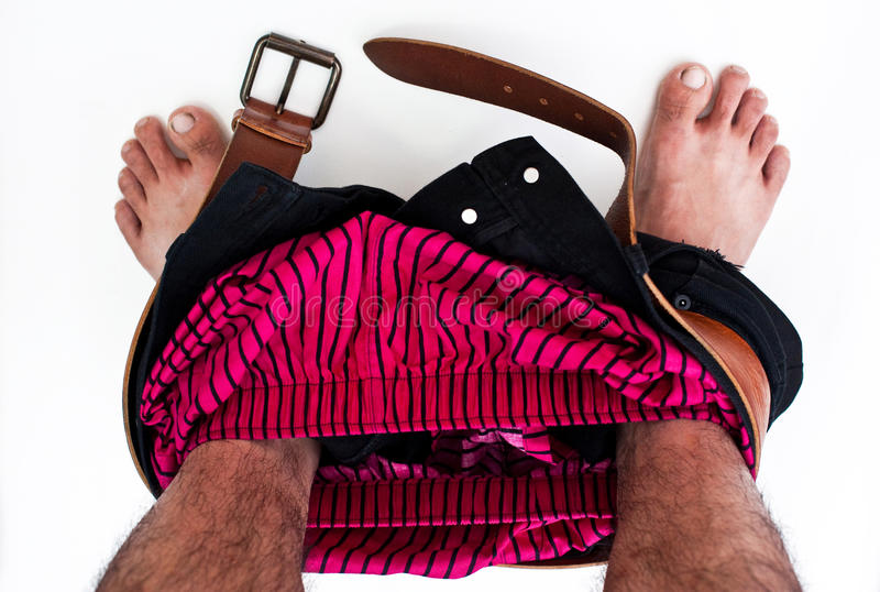 Download Pants off. stock photo. Image of isolated, striped, black - 18846412
