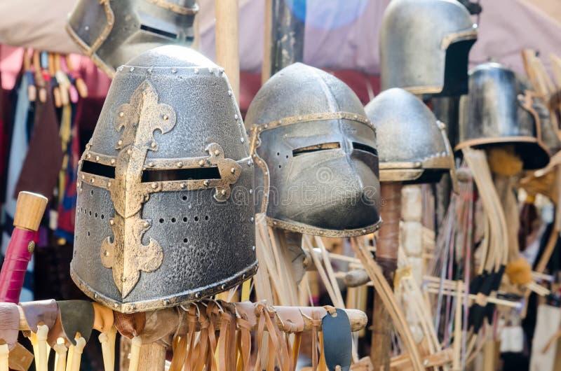 Pantser van de middeleeuwse ridder stock foto
