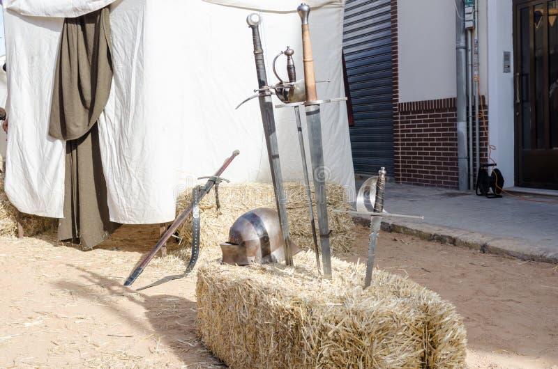 Pantser van de middeleeuwse ridder stock afbeelding