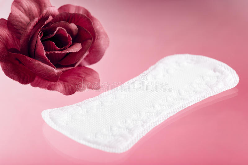 Download Panty Liner stock photo. Image of copy, napkin, flower - 22350220