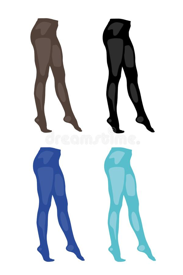 Pantyhose different colors set realistic vector illustration isolated royalty free stock photos