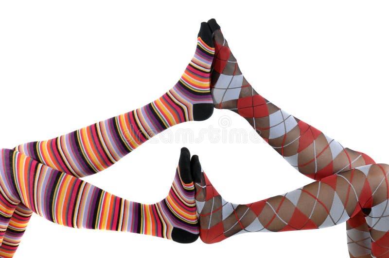 Download Pantyhose-playing stock image. Image of feet, studio, pattern - 8987805