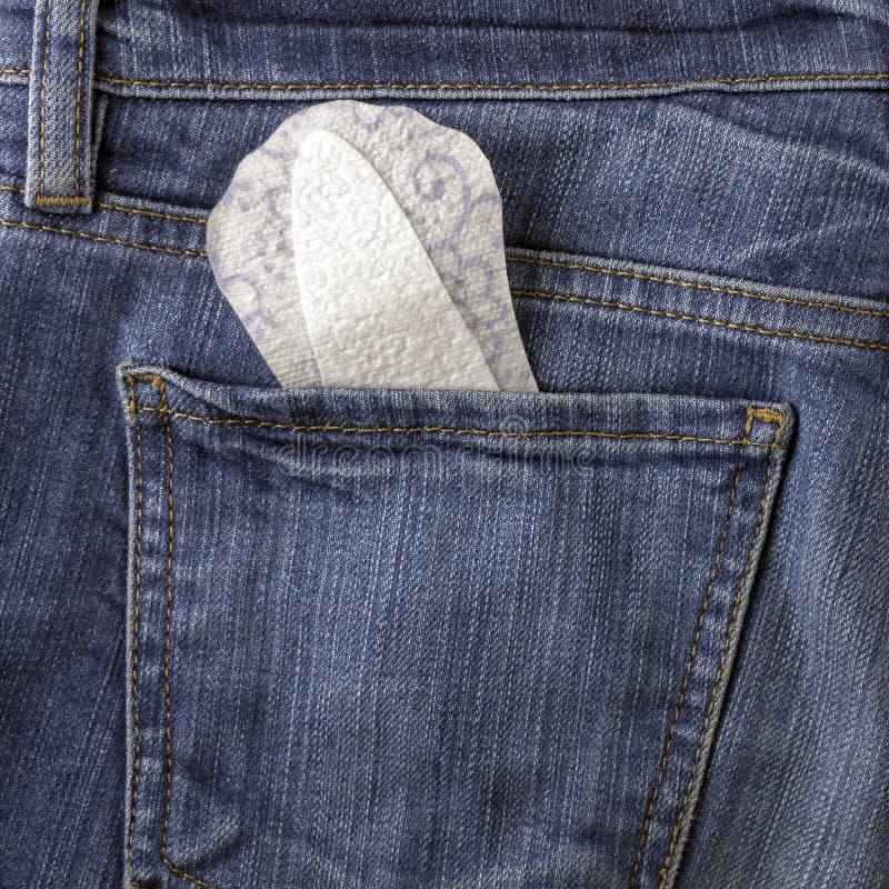 Pantyliner et jeans image libre de droits