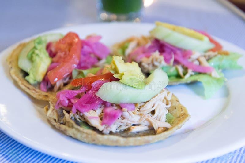 Panuchos, Yucatan τρόφιμα στοκ φωτογραφία