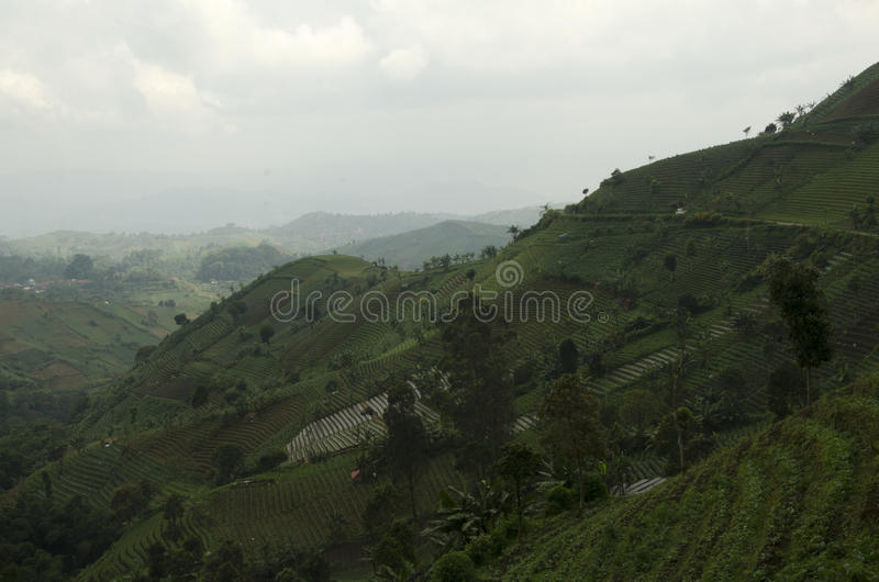 Panyaweuyan Argapura. West Java - Indonesia royalty free stock photography