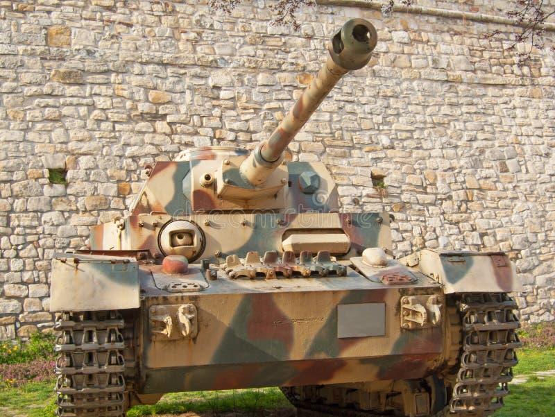 Panzer droppbehållare arkivbilder