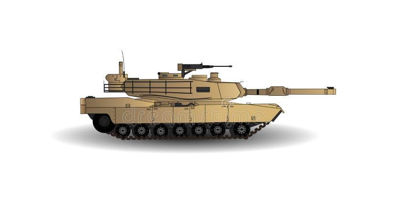PANZER-Vektor-Illustration M1A2 Abrams Haupt Dieses ist der Hauptpanzer der Armee Vereinigter Staaten Lokalisiert auf weißem back lizenzfreie abbildung