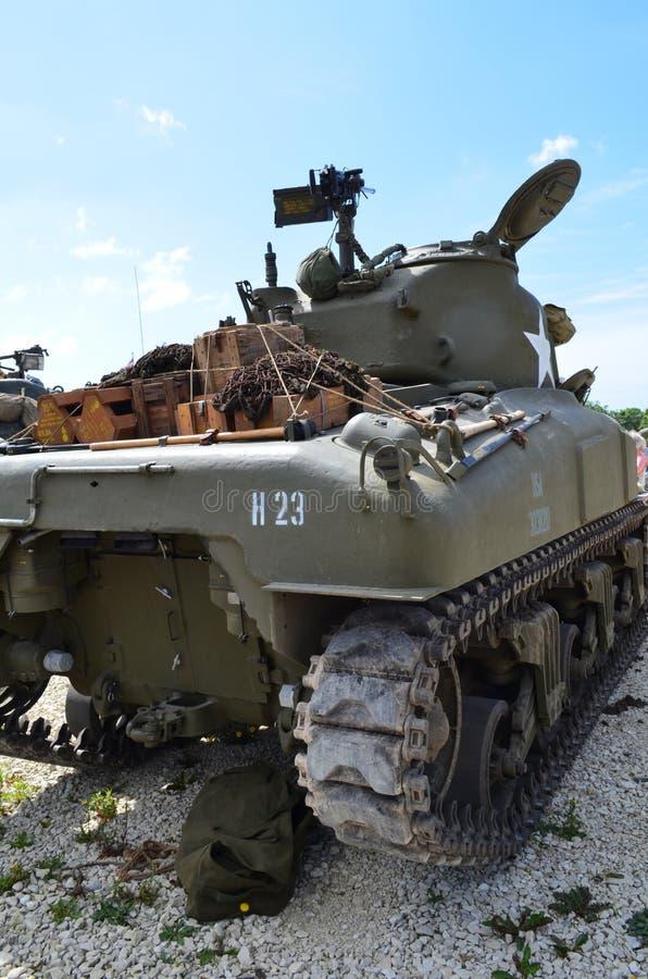 Panzer WW2 Sherman lizenzfreie stockfotos