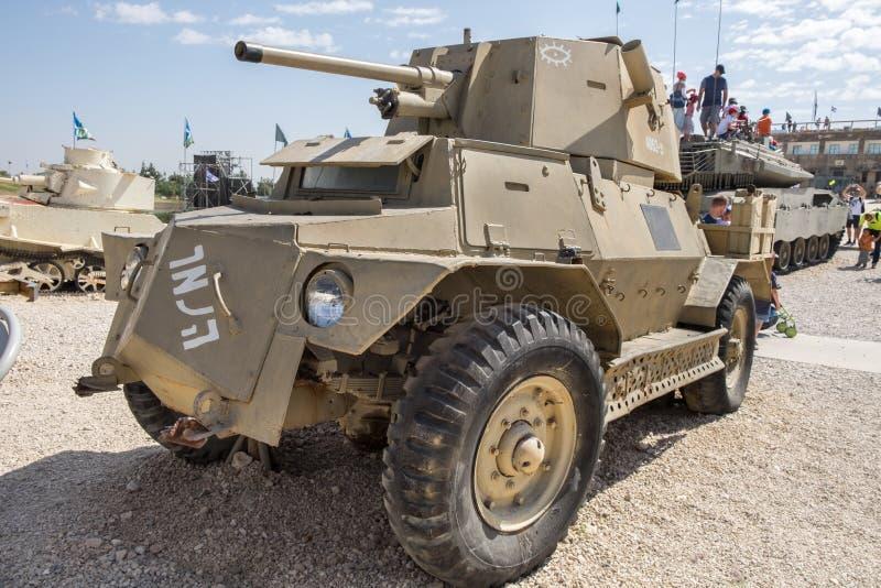 Panzerkampfwagen M IVF Marmon-Herrington an gepanzertem Korps-Museum Latrun lizenzfreies stockfoto