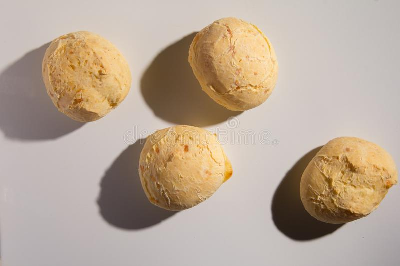 Pao de Queijo is a cheese bread ball from Brazil. Also known as royalty free stock photos