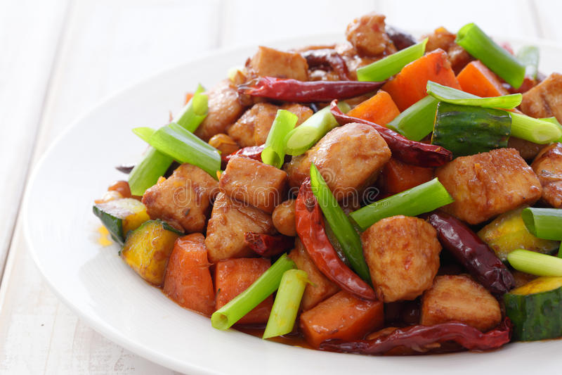 pao kung цыпленка стоковая фотография