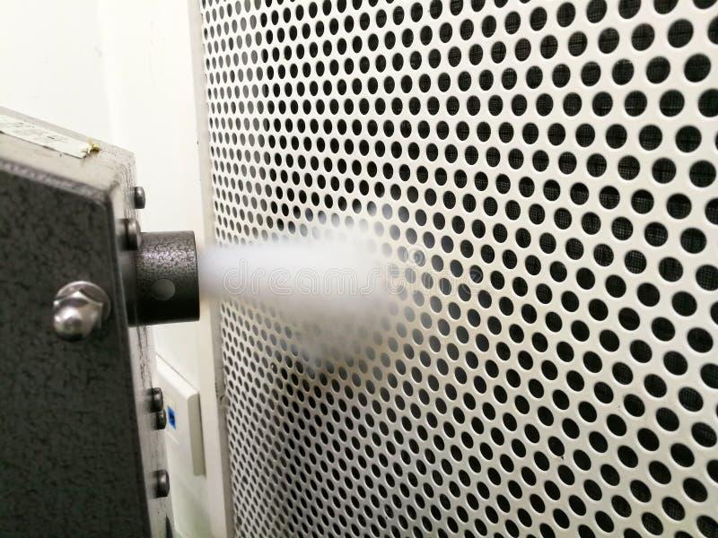 PAO lub DOP - HEPA filtra prawości test i Airflow unaocznienia test obrazy stock