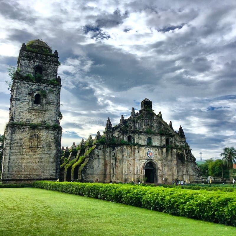 Paoay kościół, Filipiny obraz royalty free