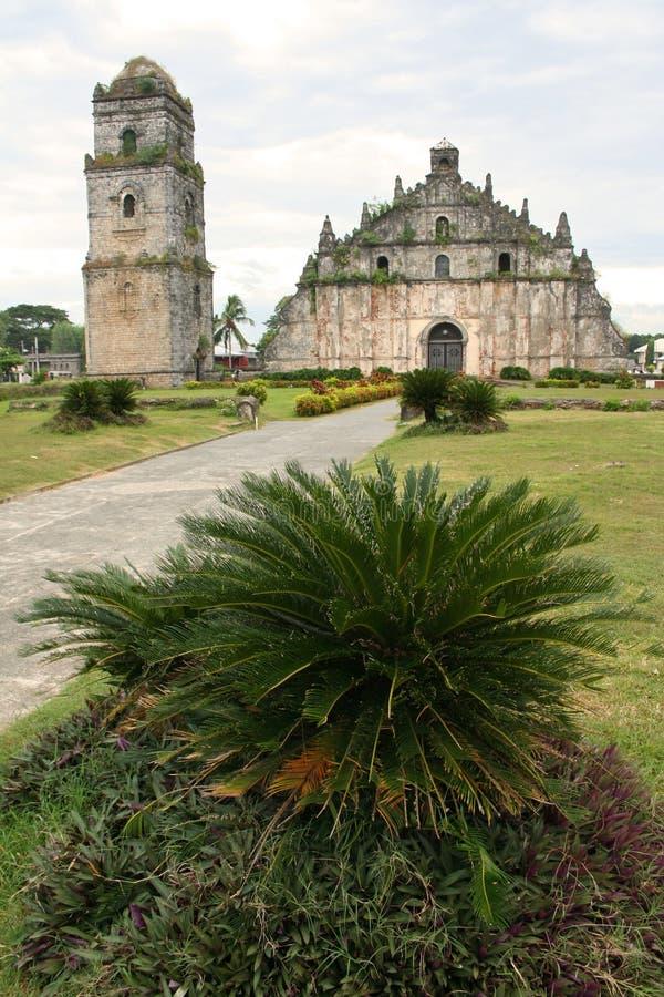 paoay Philippines kolonialnych kościelne obraz royalty free
