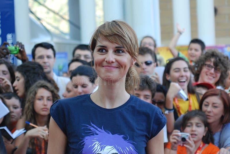 Paola Cortellesi al Giffoni Film Festival 2011 fotografia stock libera da diritti