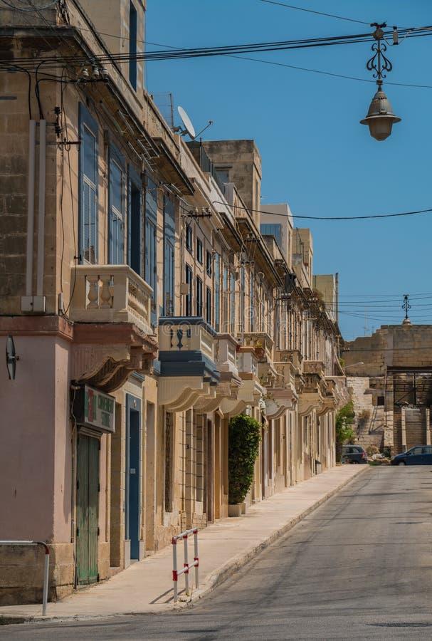 Paola Facades in Valletta royalty-vrije stock foto's