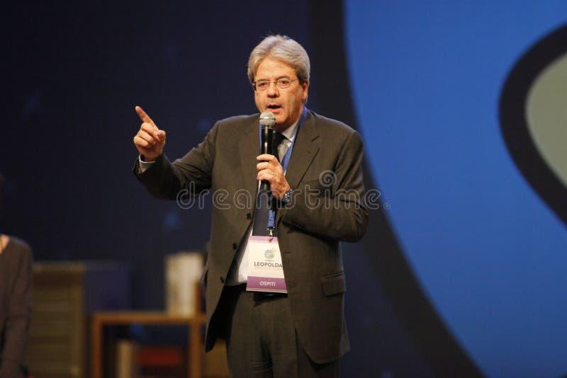 Paolo Gentiloni fotografia stock