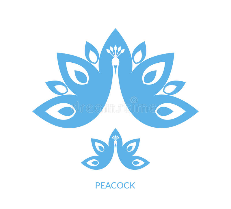 Paon bleu illustration de vecteur
