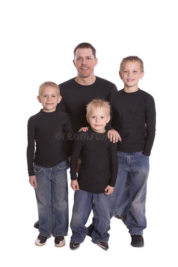 Papà della famiglia fotografia stock libera da diritti