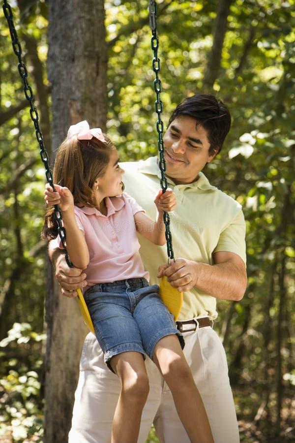 Papà e figlia. fotografia stock