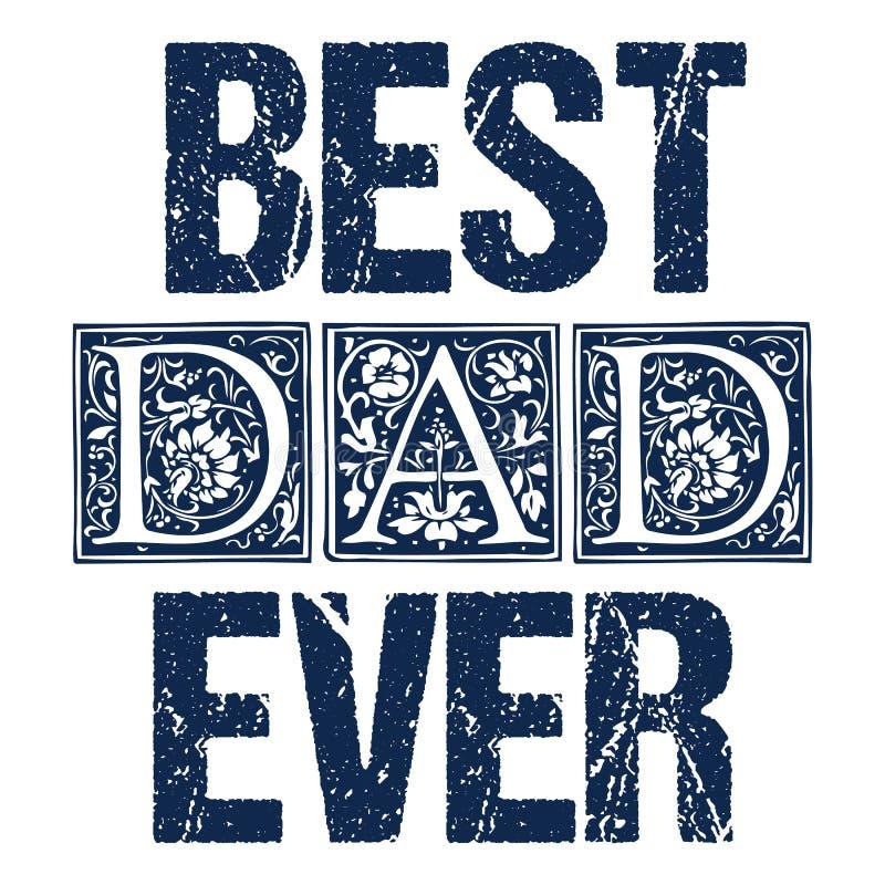 Papà oscillate i saluti del giorno di padri progettate il concetto della carta royalty illustrazione gratis