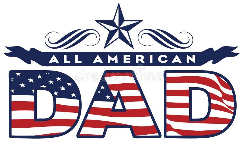 Papá americano stock de ilustración