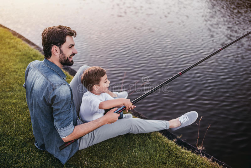 Papá con el hijo fotografía de archivo libre de regalías