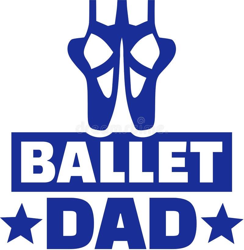 Papá del ballet stock de ilustración