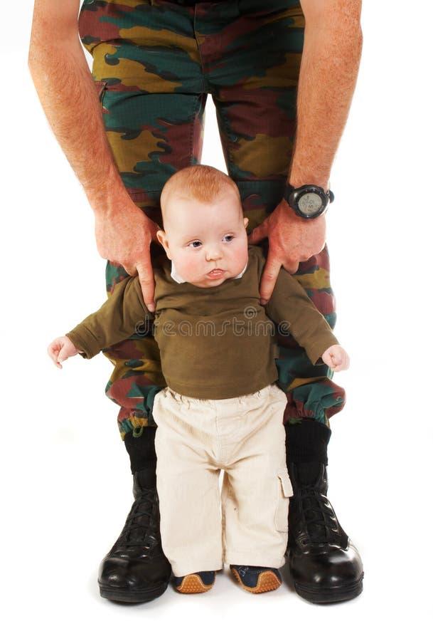 Papá del soldado imagen de archivo libre de regalías