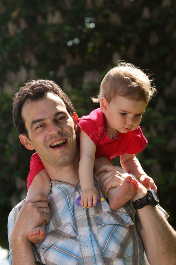 Papá e bebê fotografia de stock royalty free