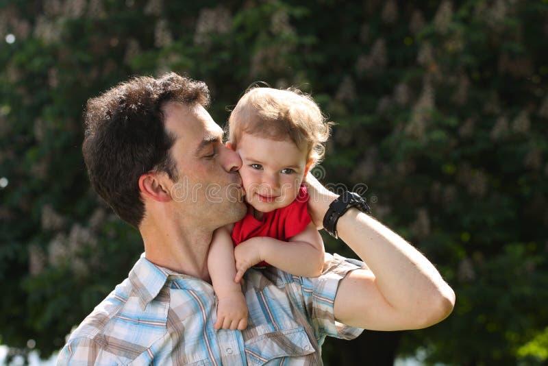 Papá e bebê imagem de stock