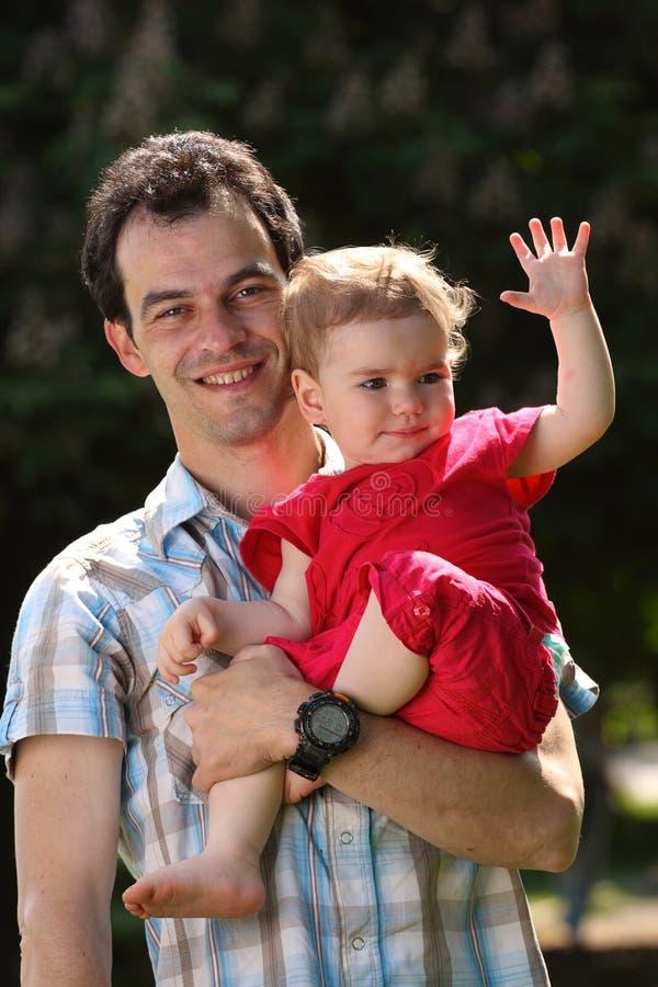 Papá e bebê fotos de stock
