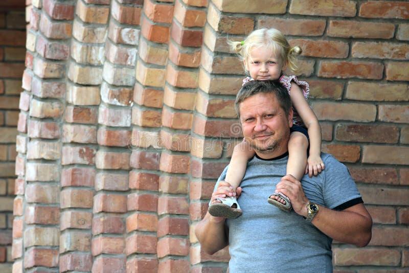 Papá e filha fotos de stock