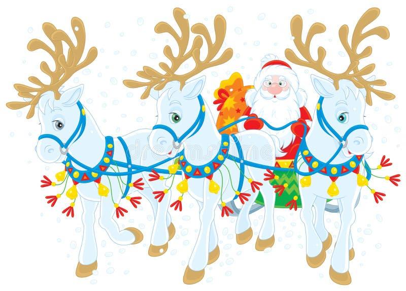Papá Noel ilustración del vector