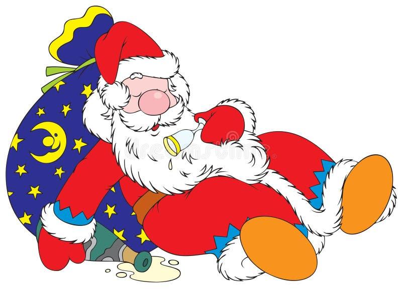Papá Noel achispado ilustración del vector