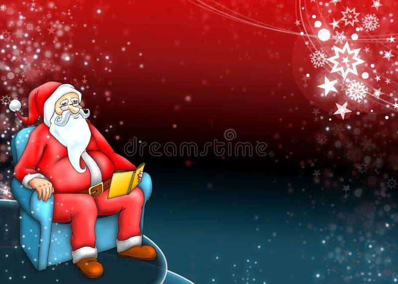 Papá Noel con el fondo azul rojo oscuro libre illustration