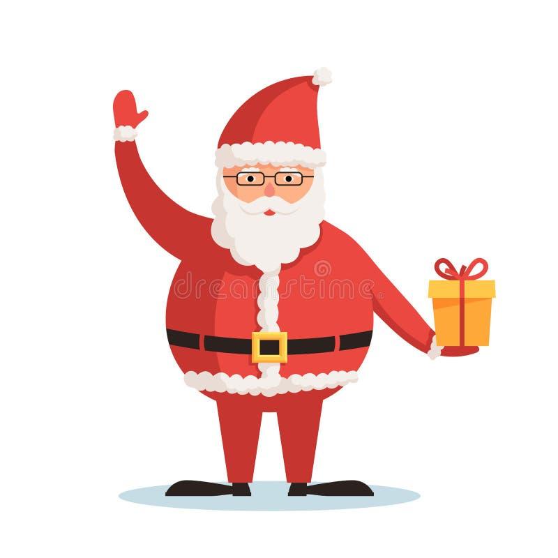 Papá Noel con el regalo libre illustration