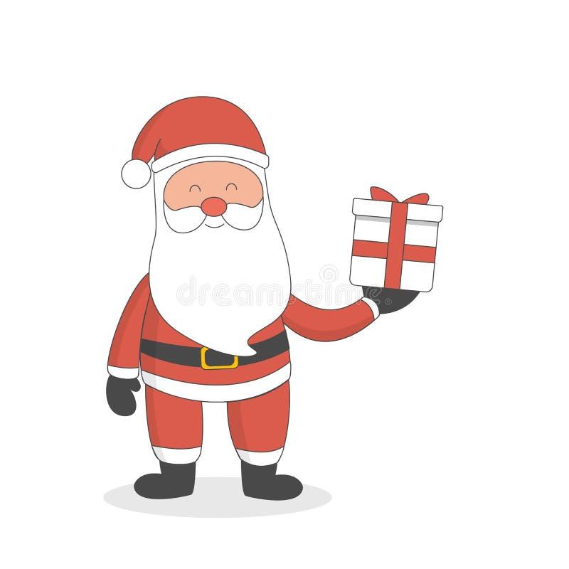 Papá Noel con el regalo ilustración del vector