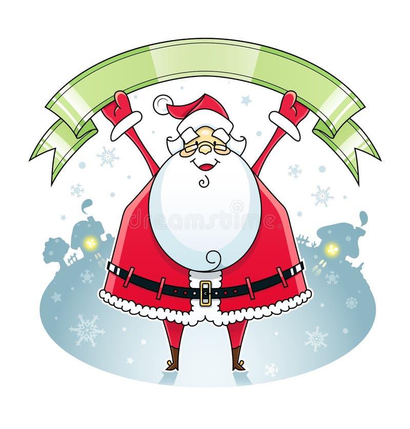 Papá Noel con la cinta libre illustration