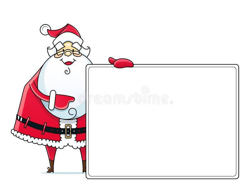 Papá Noel con la muestra stock de ilustración