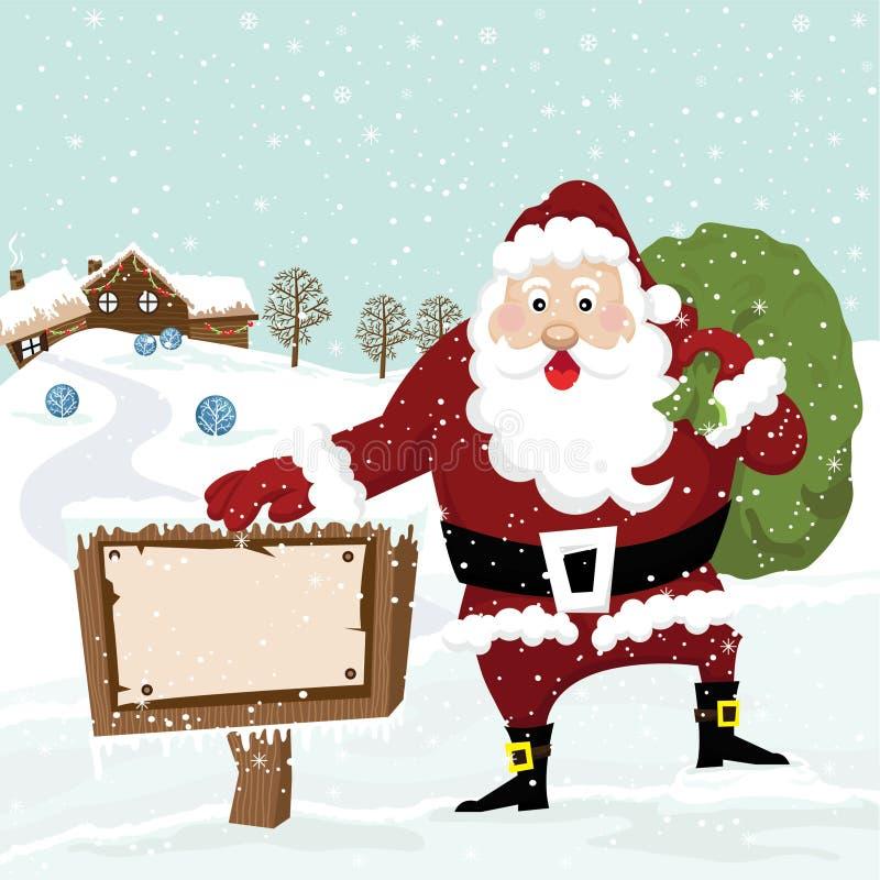 Papá Noel con la muestra libre illustration