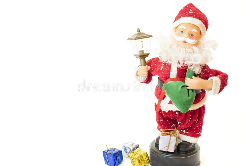 Papá Noel con los regalos imágenes de archivo libres de regalías