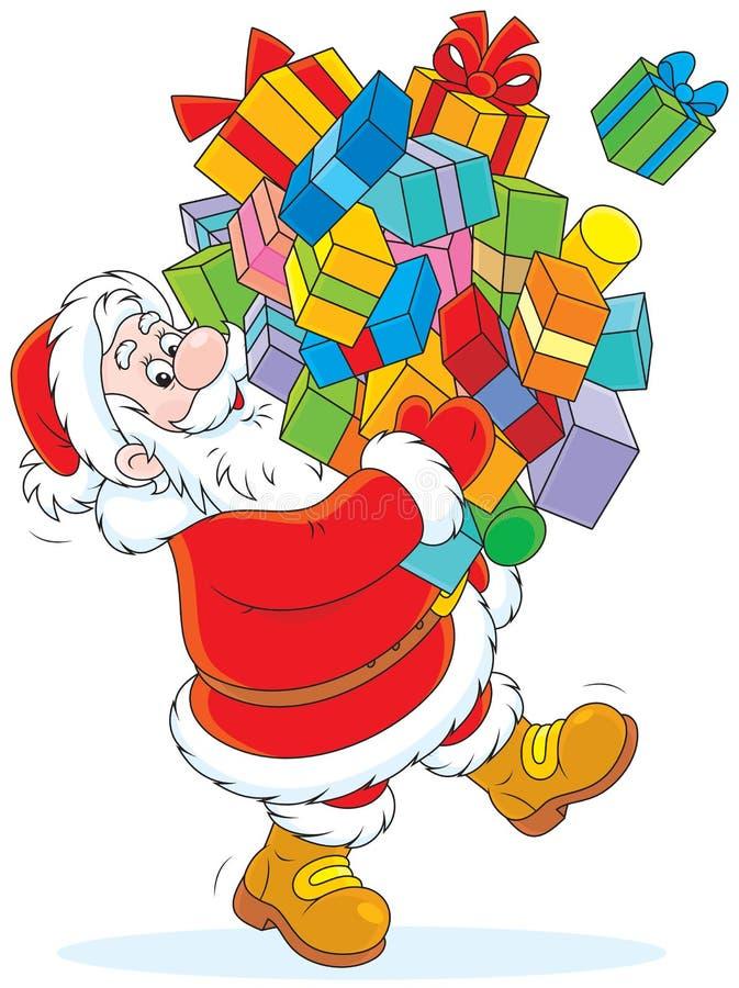 Papá Noel con los regalos libre illustration