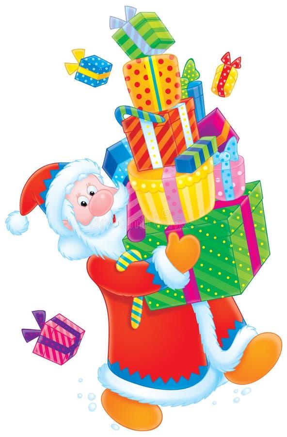 Papá Noel con los regalos de la Navidad libre illustration