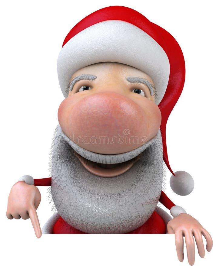 Papá Noel con una muestra en blanco libre illustration