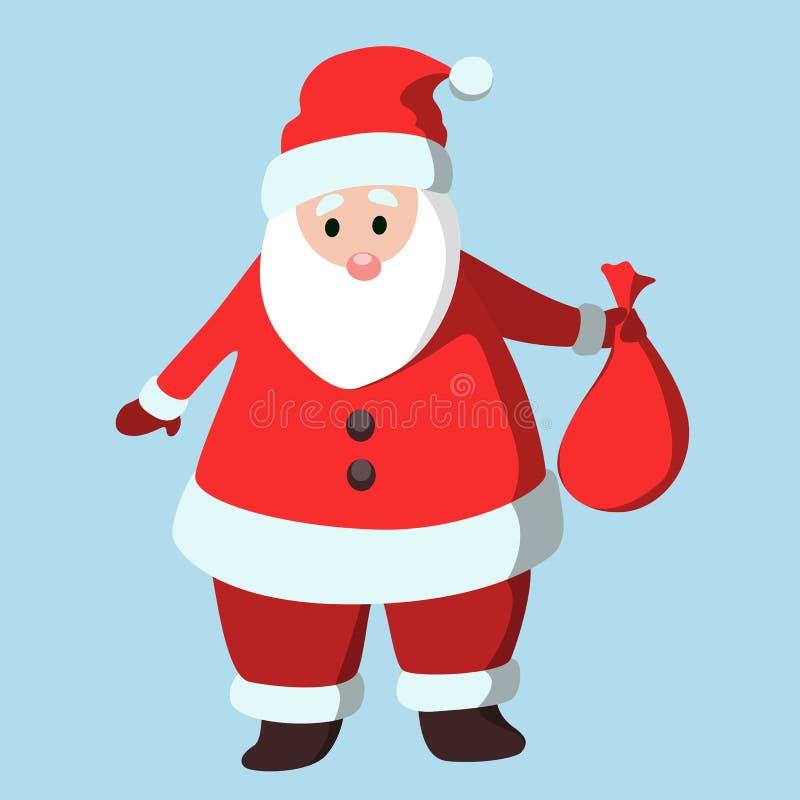Papá Noel divertido aislado libre illustration